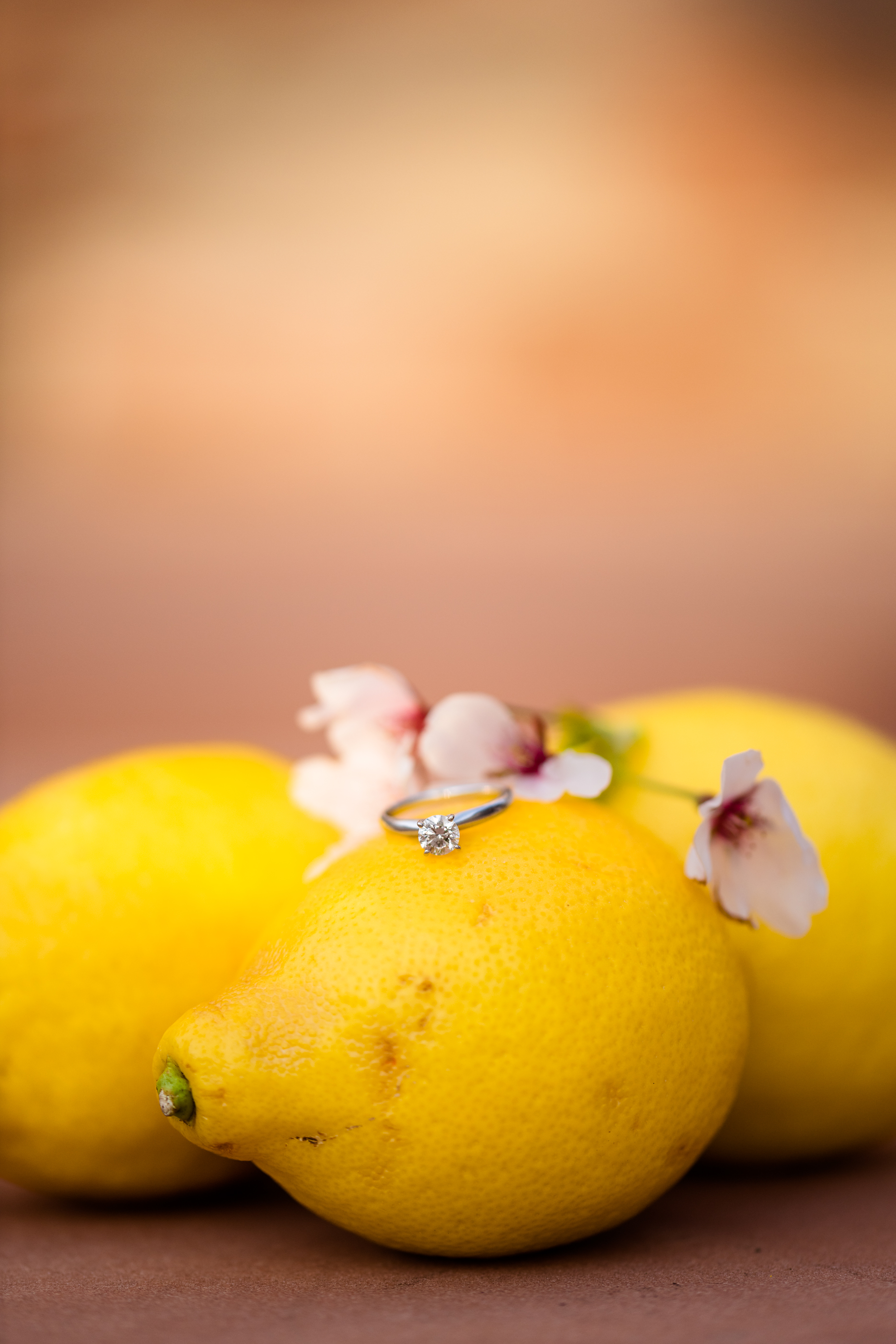 Lemons, blossoms, and diamond rings.