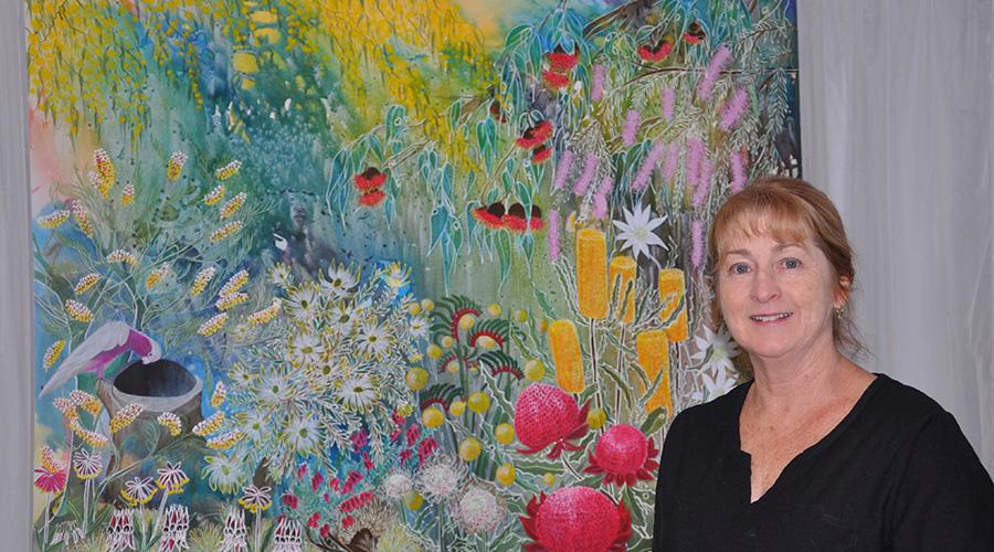 Bernadette with   Australian Wildflowers .