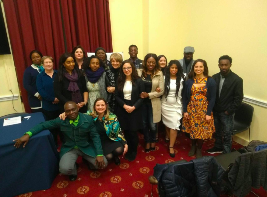 Event presenters and attendees. Photo Credit: Refugee Alliance Network.