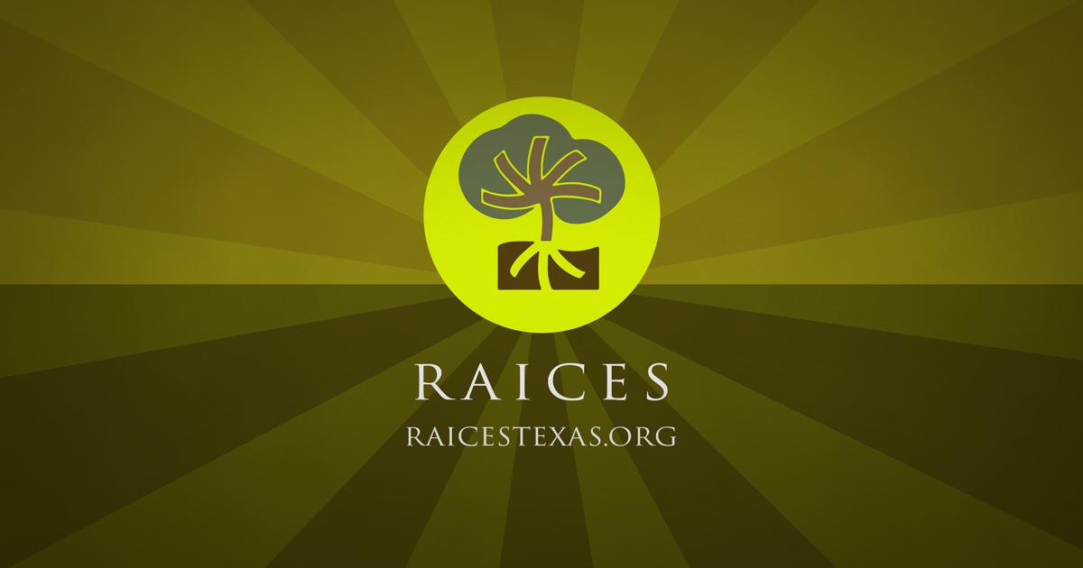 RAICES logo.