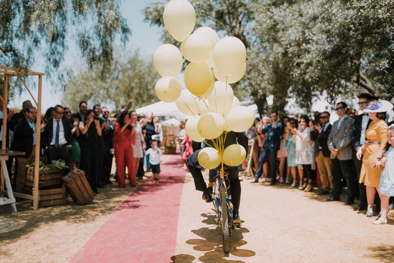 globos bicicleta boda diferente sevilla
