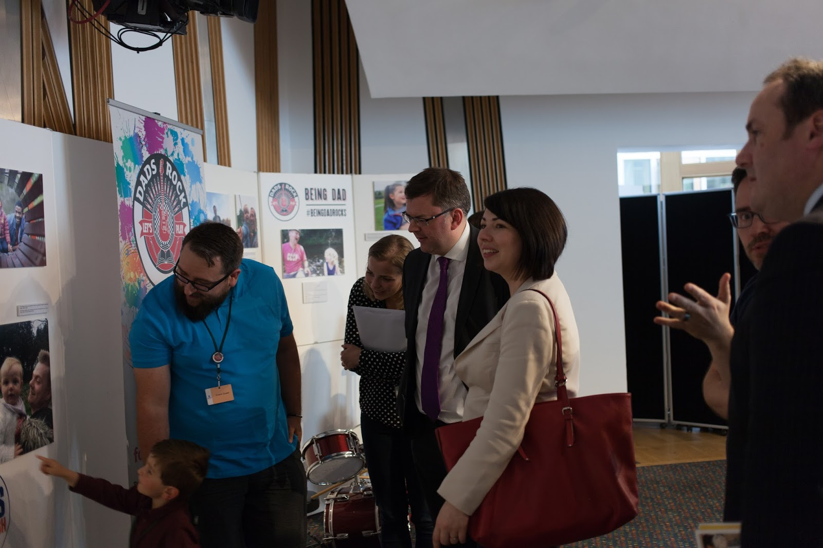 MSP Colin Smyth with MSP Monica Lennon...perhaps singing along?