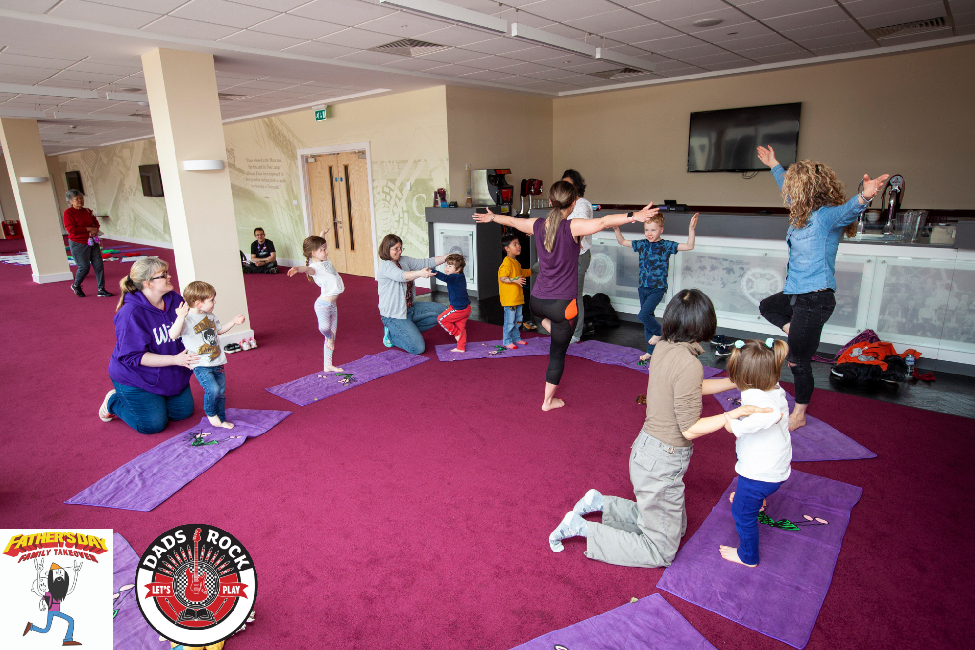 The kids even enjoyed a bit of light yoga, with some parental assistance of course. Thanks to  Tatty Bumpkin  Yoga