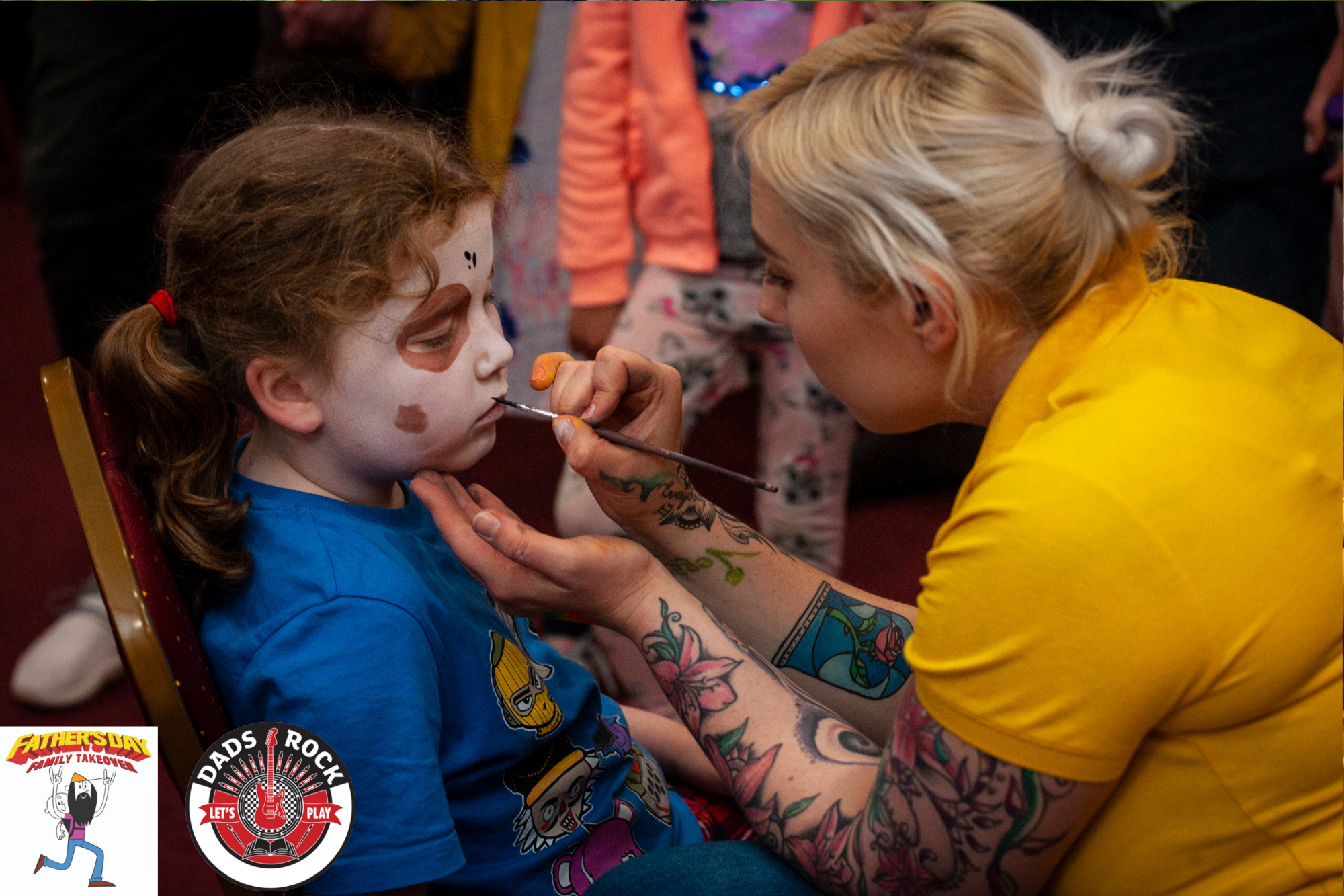 Plenty of painted faces were running around enjoying everything on offer. Thanks to  Pure Brilliant Events .
