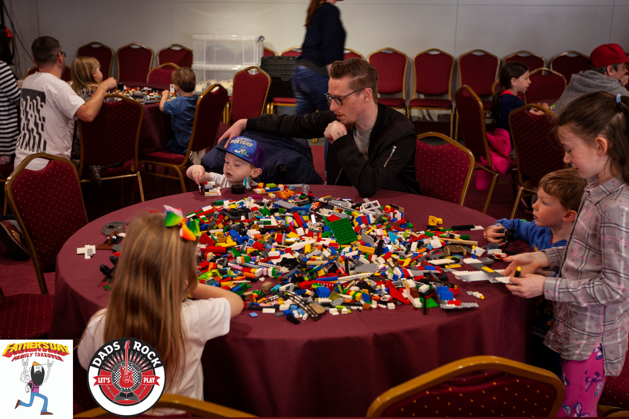 The dads were more than happy to get stuck in at our lego tables.