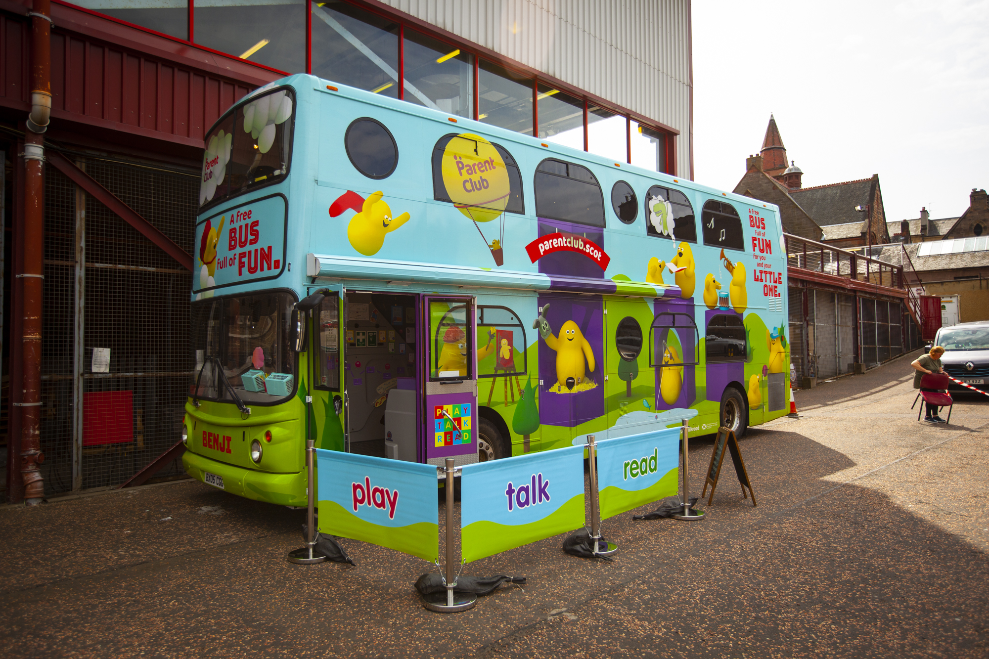 The awesome  Play Talk Read  bus was on the scene.