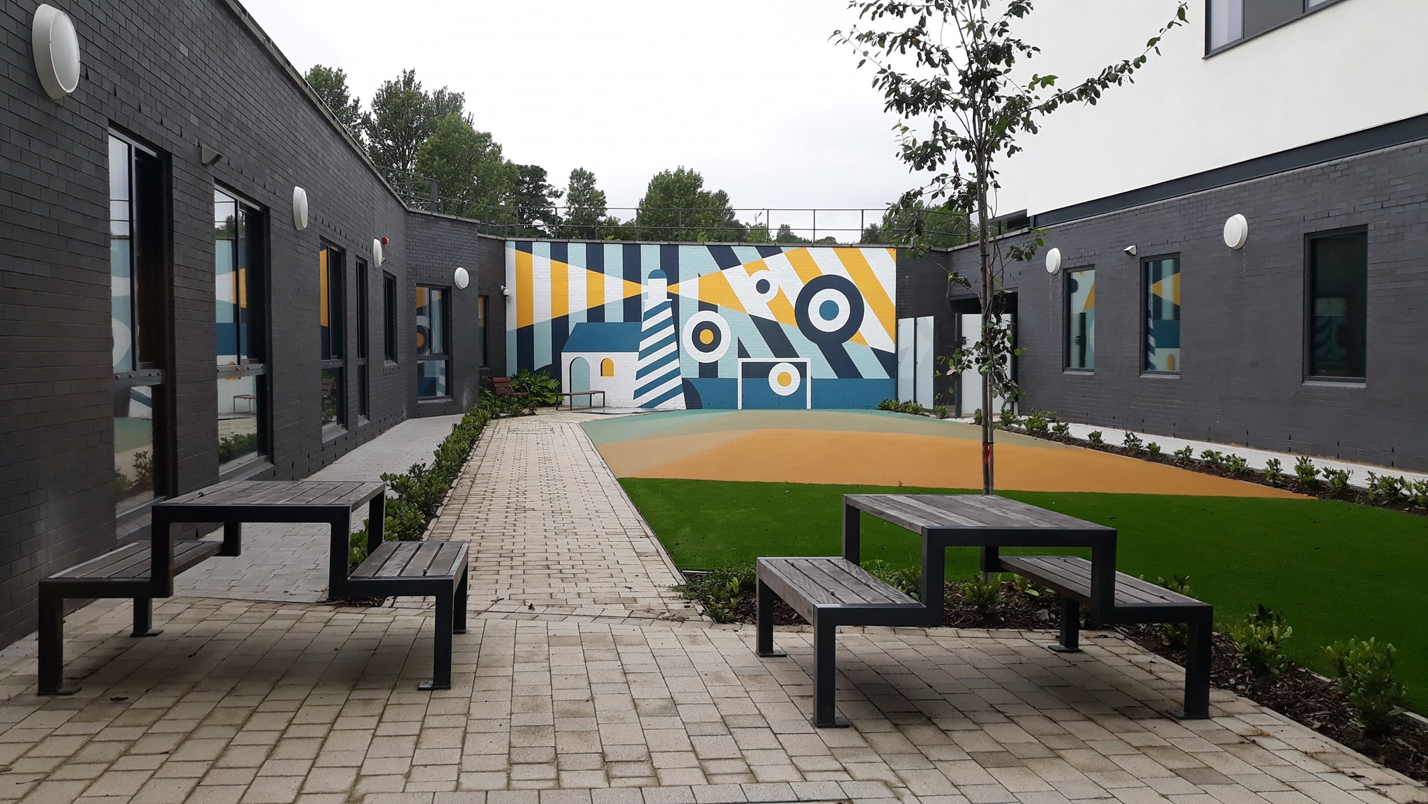 The garden for the mental health ward for young people.