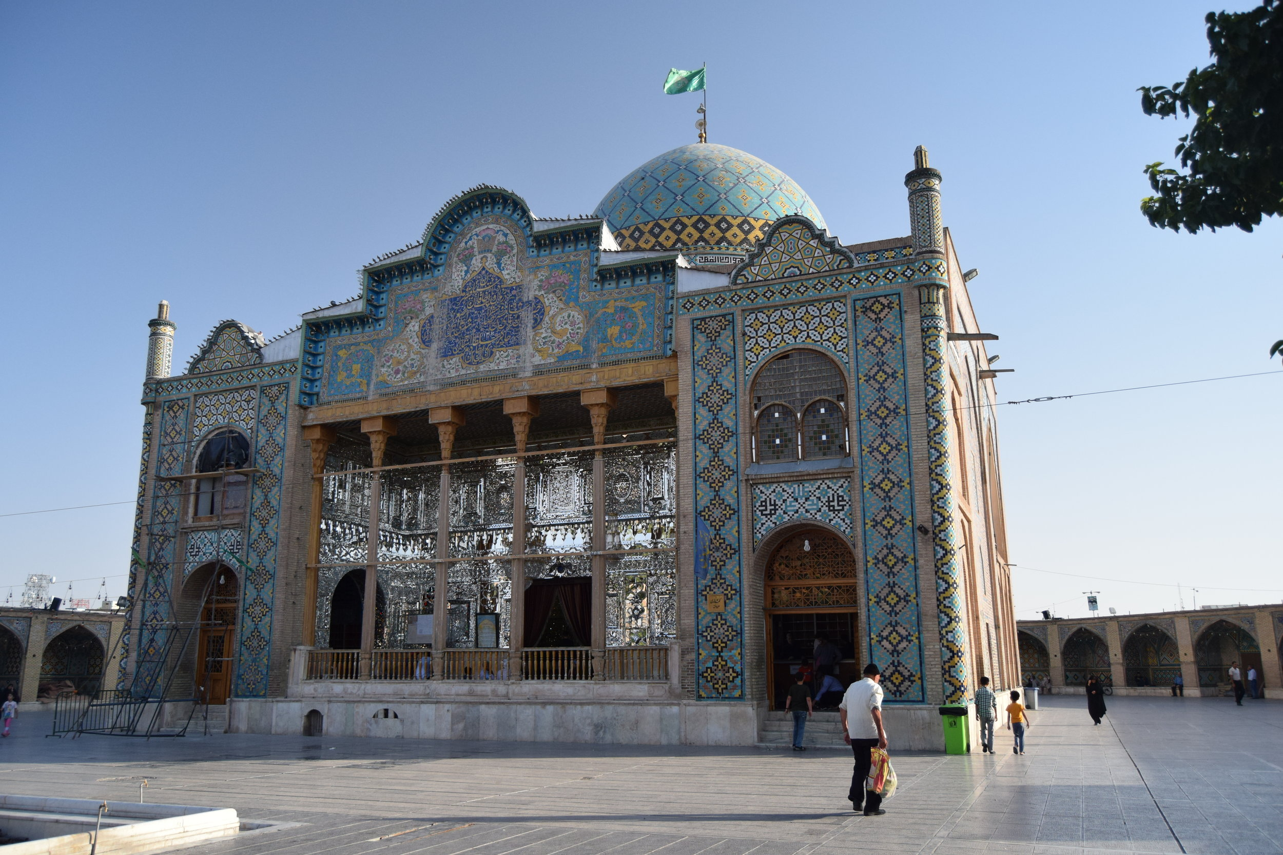 Shrine in Qazvin - the interior covered in mirrors