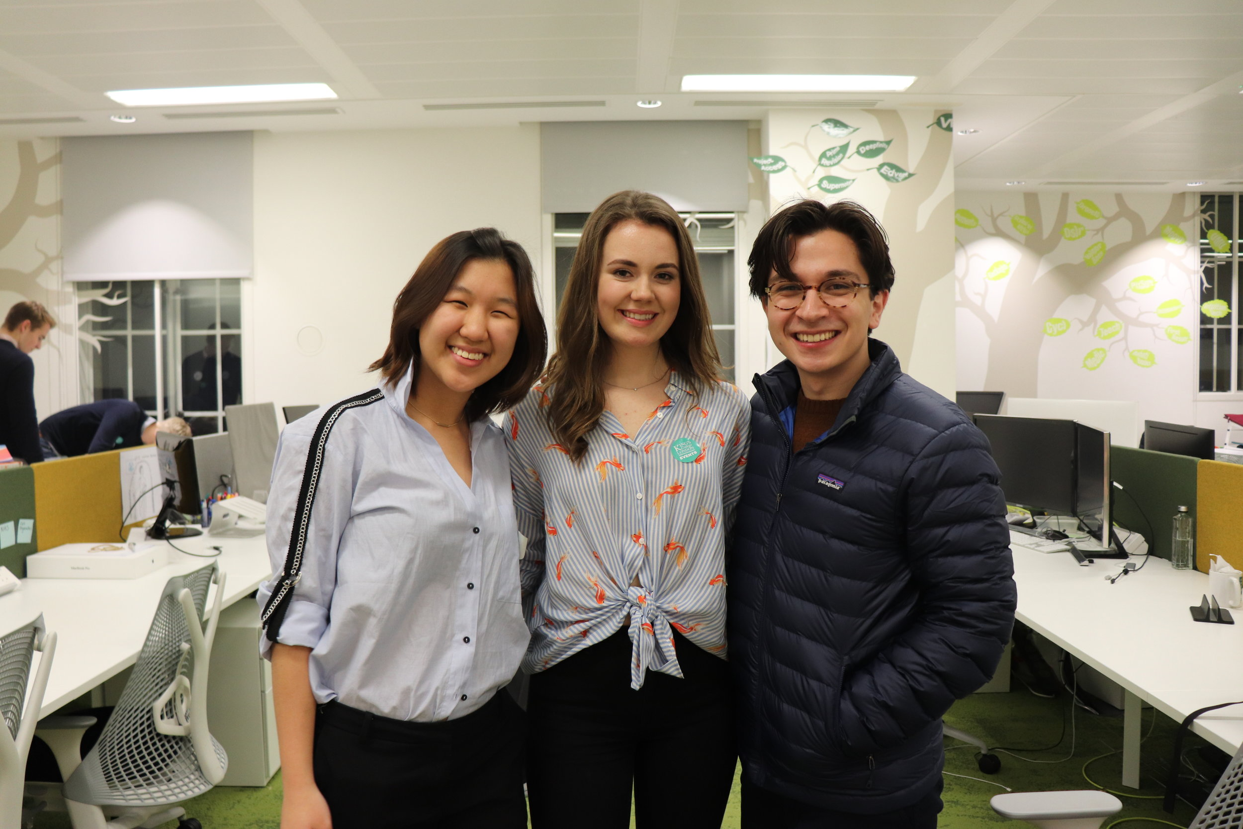 With some of the Marketing Team members! Left to right: me, Catriona (Director of Marketing), Joe (Head of Marketing Logistics)