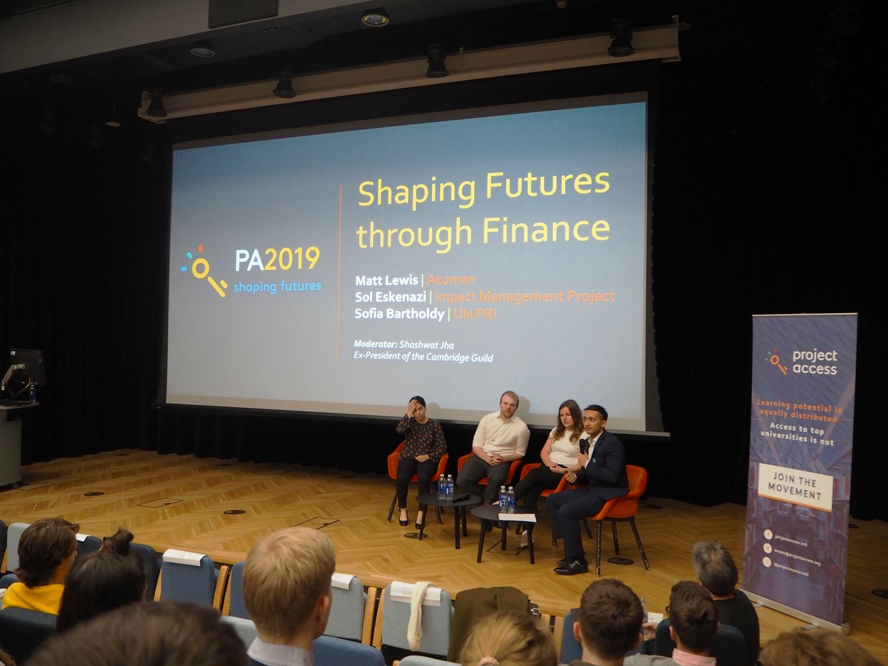 The first panel: Shaping Futures through Finance