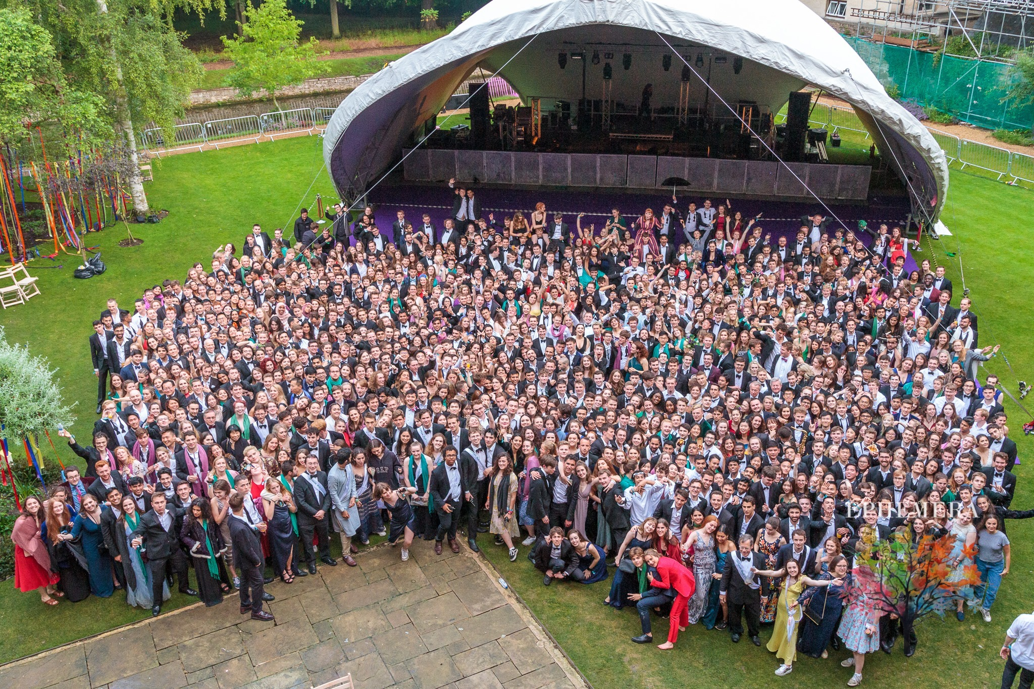Don't forget to gather for the survivors' photo, which marks the end of the May ball ft. Queens' May Ball 2019 survivors' photo
