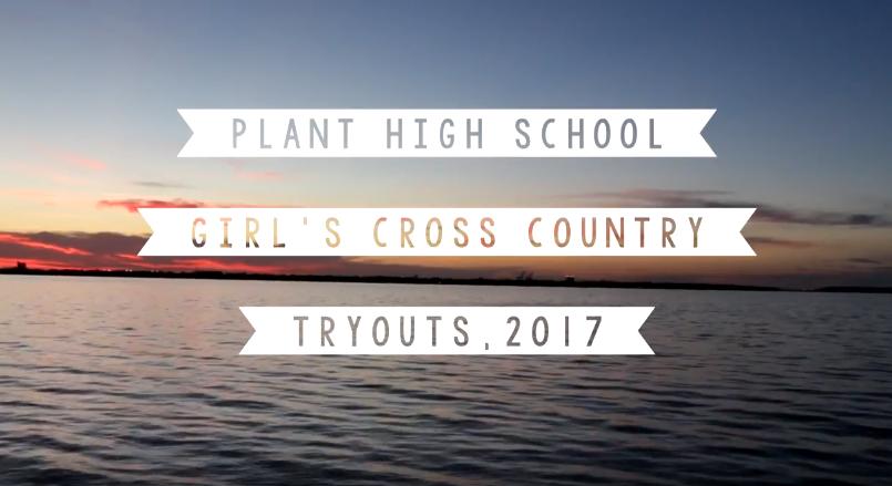 Plant High School Girl's Cross Country team, 2017