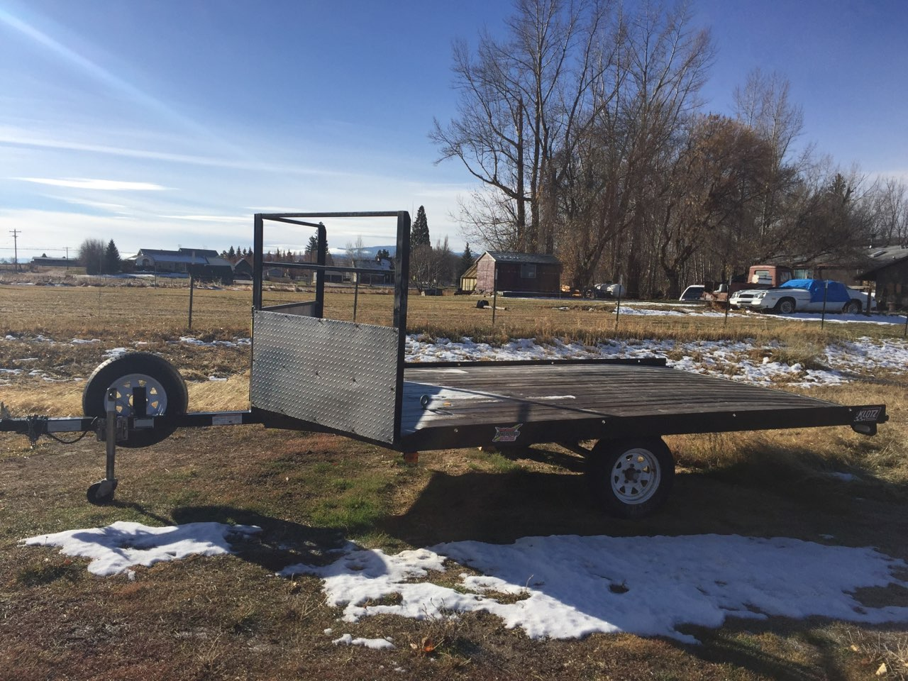 Daily Rental - $45 - 2 Place Sled Trailer