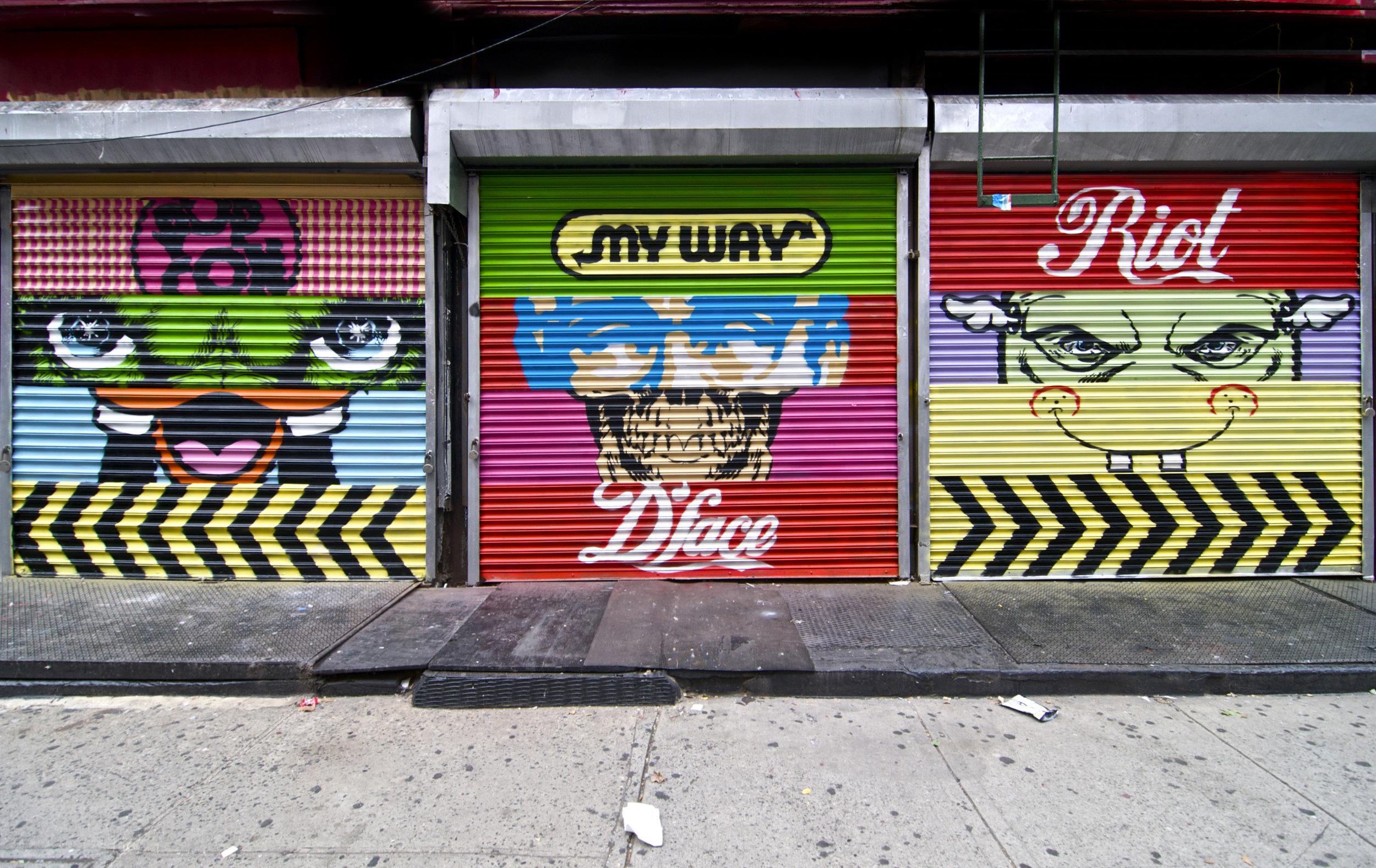My Way Stripes, China Town NYC 2010.jpg