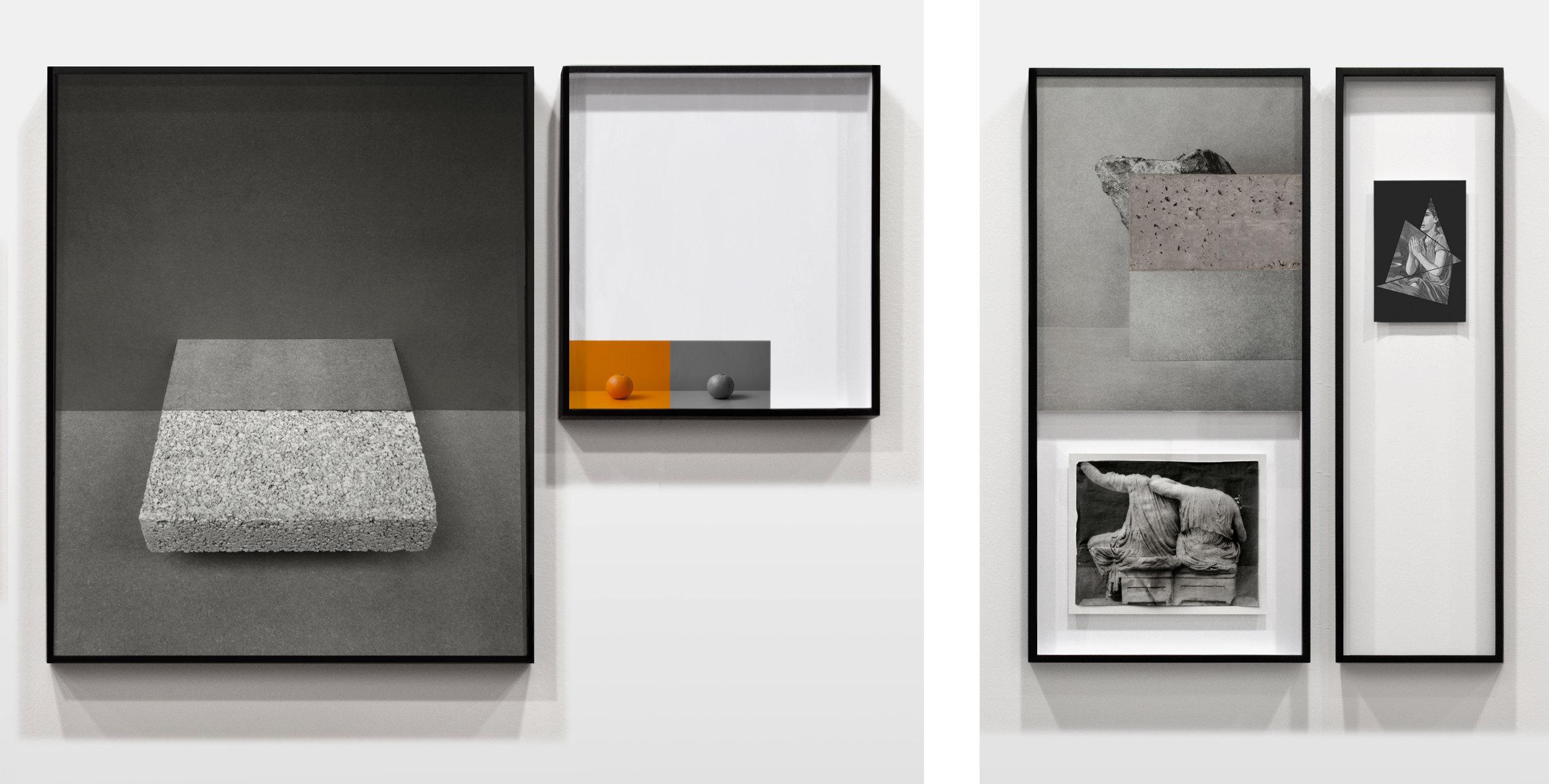 (M12-13) Metalepsis fig.12-13 (installation view) various print materials, 2014 / (M 5-7) Metalpsis fig.5-7 (installation view) various print materials, 2014