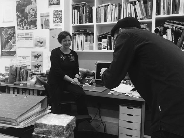 We've been quiet- but beavering away behind the scenes. Sneaky snap from a few weeks back of our next commentator #KatrinaSluis and our photographer @philhewitt in action/caption(!) @thephotographersgallery #Photolocale #contemporary #photography #PhoLo #London #PL #interview #PLonline