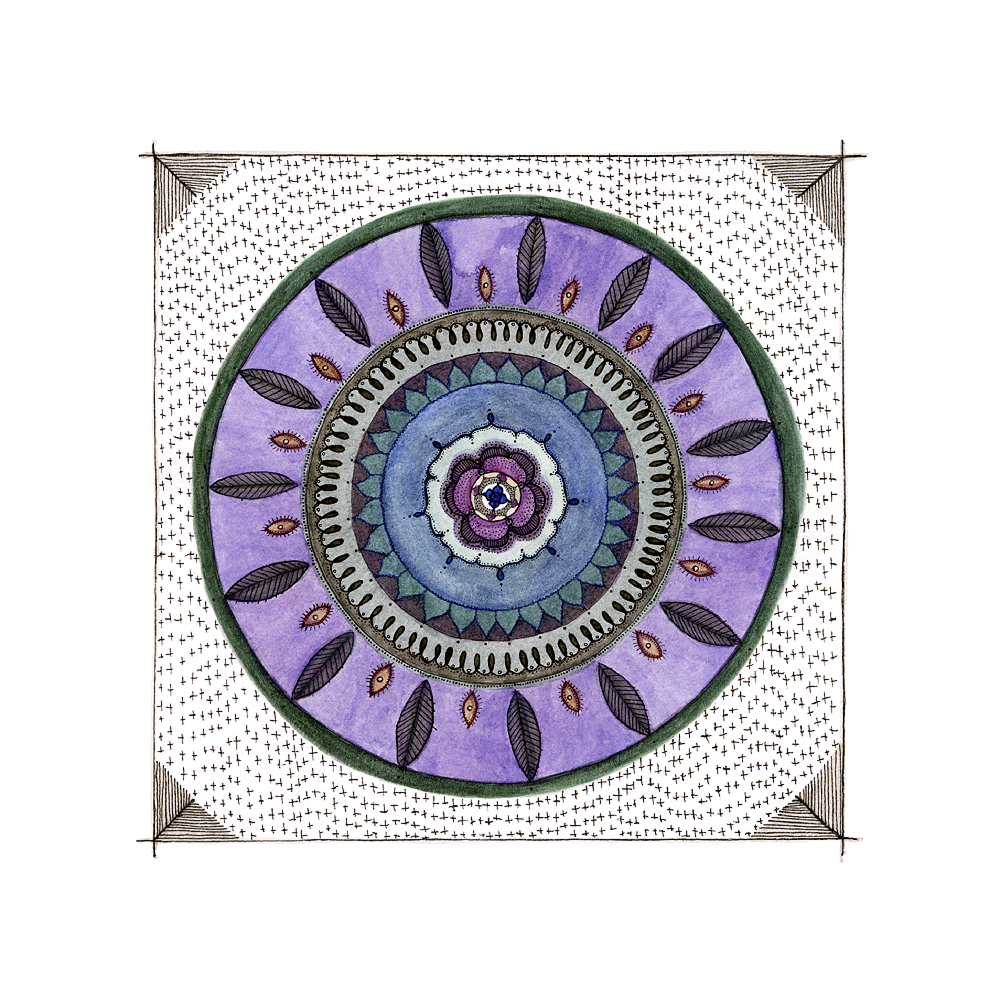 Purple Feather Mandala