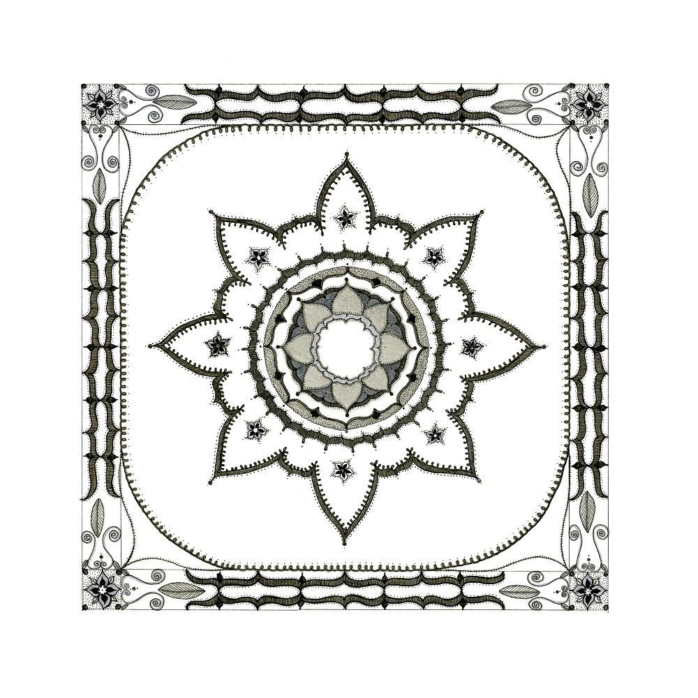 Square Flower Mandala