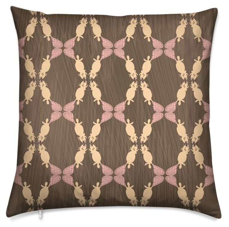 """A beautiful pillow with a print by surface pattern designer Tine Versleegers: """"the bold and the beaverful"""""""