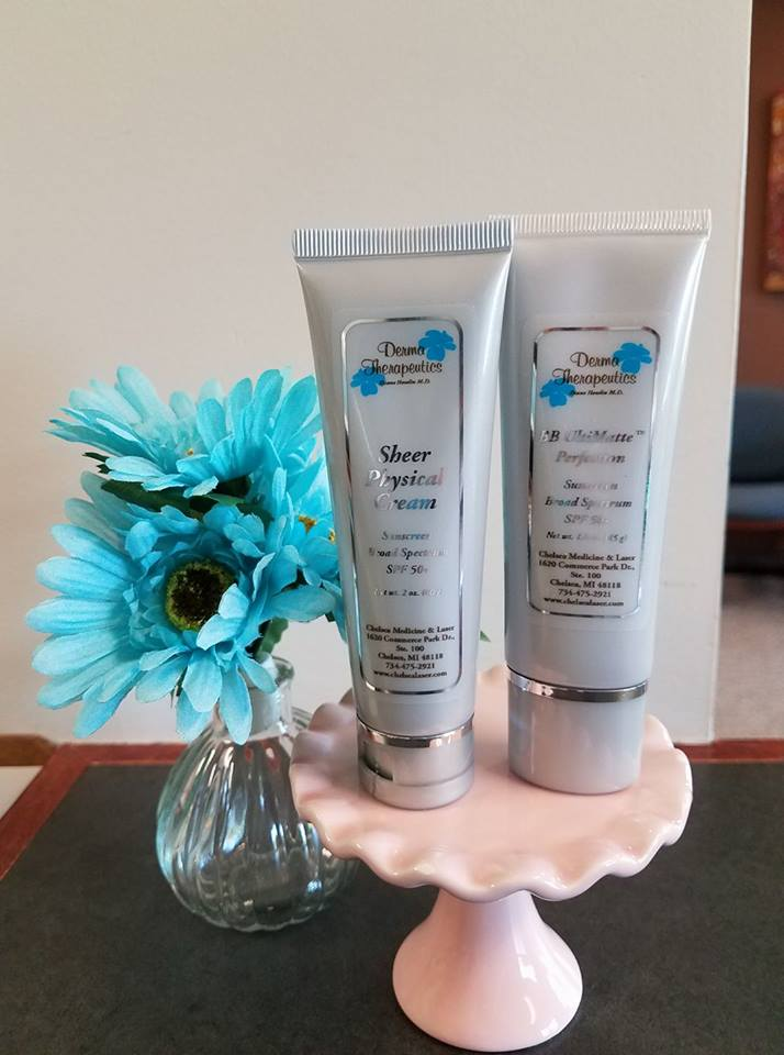 *Sheer Sunscreen $32- Physical protection for all skin types. Gentle on sensitive and acne prone skin.  *BB Sunscreen $45- UVA/UVB protection. Conceal imperfections and minimize the appearance of fine lines, wrinkles and pore size.