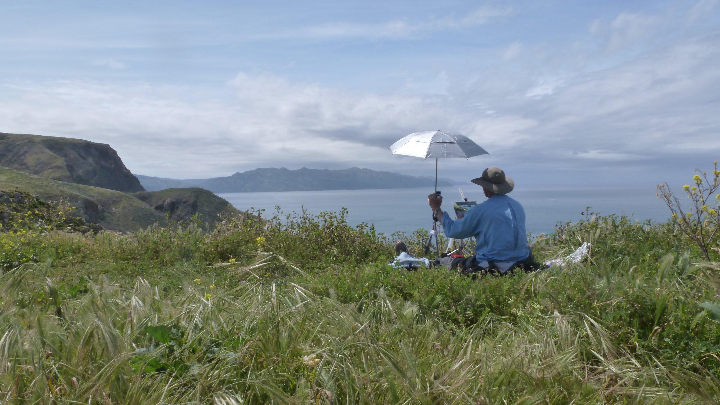 Plein Aire Painting at Santa Cruz Island