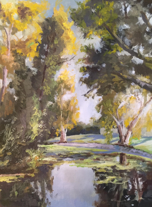 Russ Hunziker - Autumn Morning King Gillette Ranch Pond.jpg