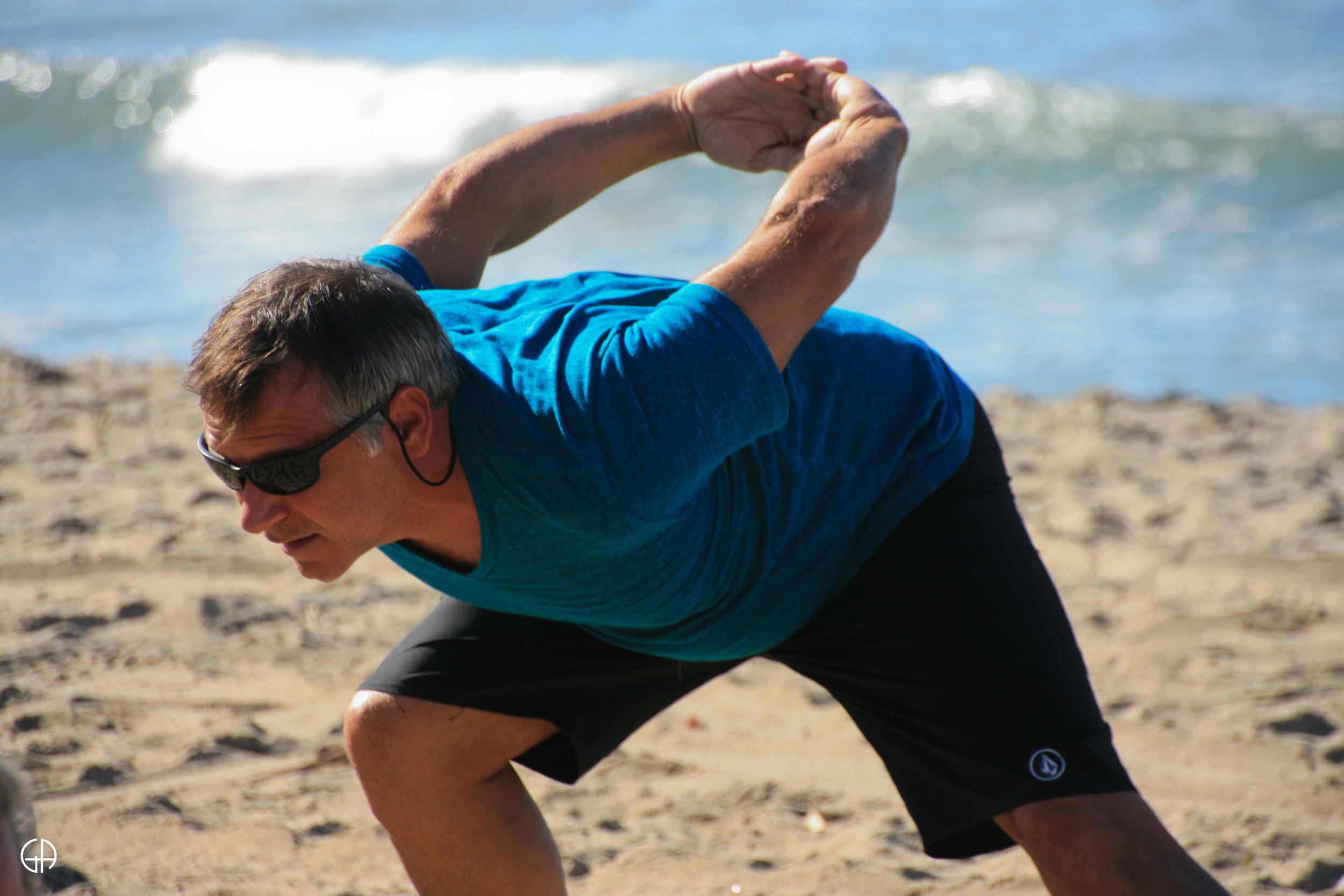 yoga for surfer bobby johnson from Santa Rosa BEach, FLorida