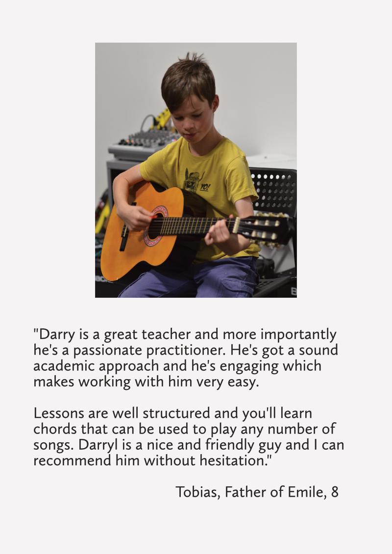 student testimonial guitar tuition east london guitar school london
