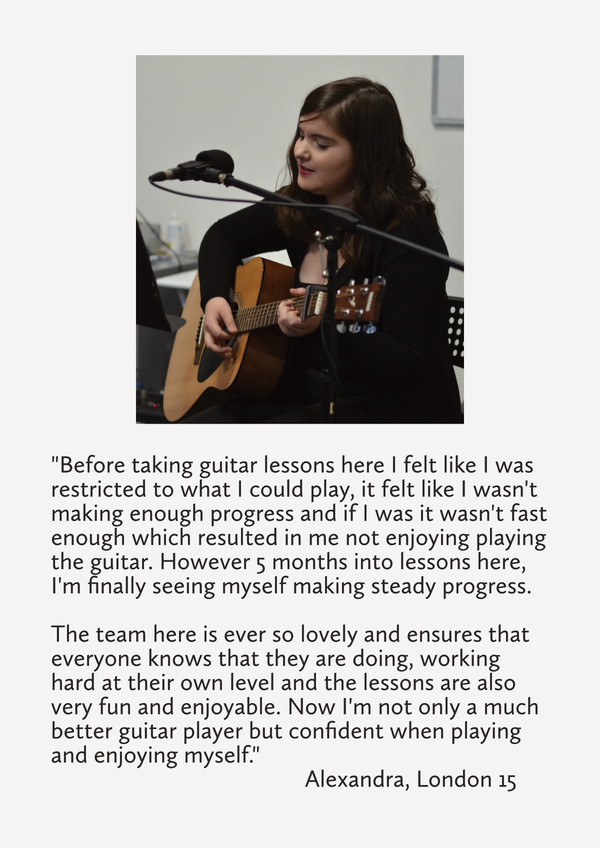 teenager guitar lessons guitar tuition east london review
