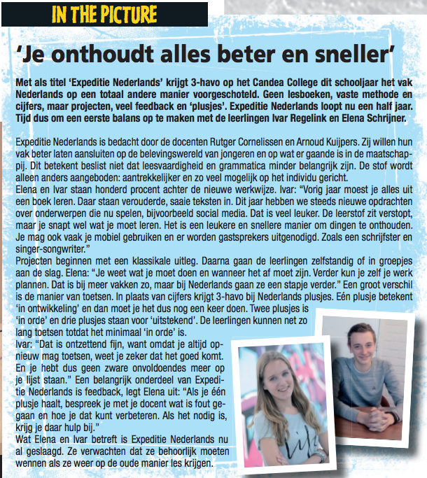 Interview in de plaatselijke krant van Duiven.