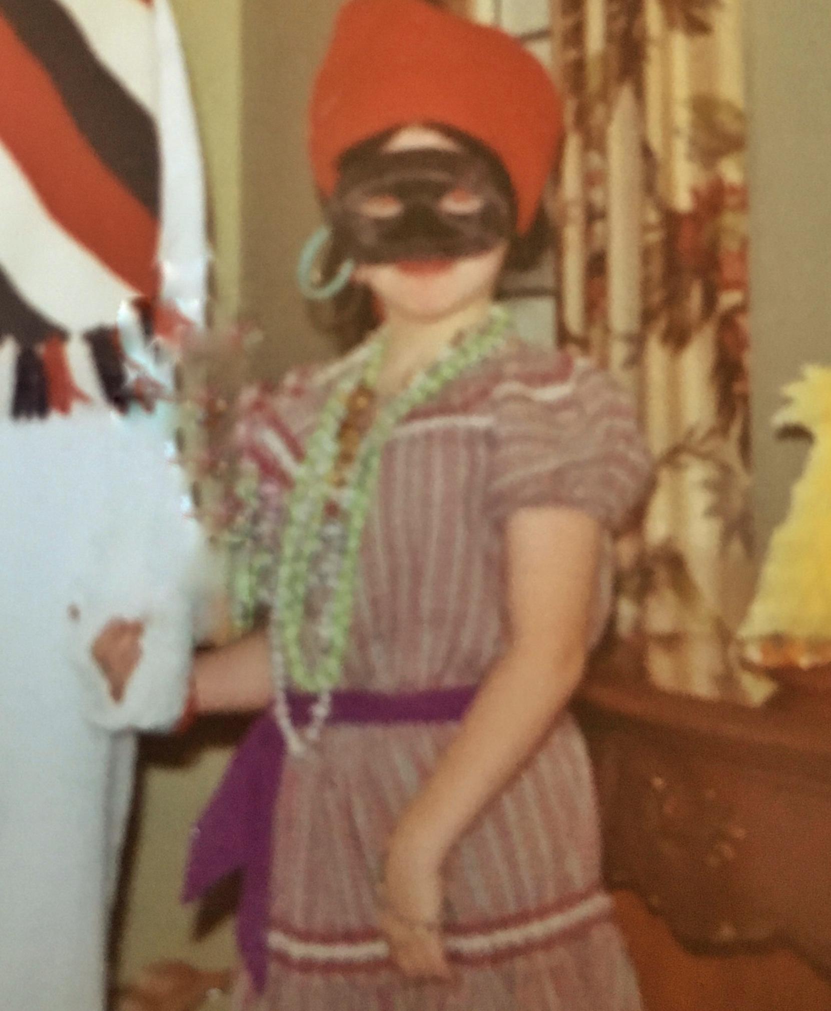 Gypsy fortune-teller Halloween 1968. -