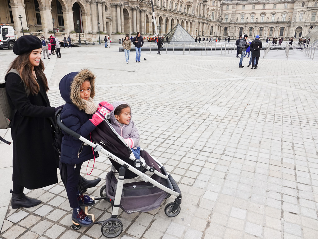 The MVP of the trip goes to  this stroller  and the  piggyback attachment.  I will never take a trip without my stroller. It's essential for me and the girls. If Sienna is feeling tired she can take a nap while Penny stands, and vice versa.Happy kids, happy life.