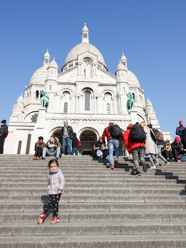 These girls love to pose and this church was beautiful! The Sacre-Coeur church in Montmartre.