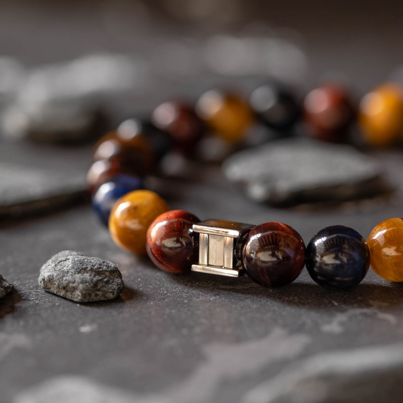 Natural stone from all over the world - One of the key foundations is the choice for top A grade natural stone.The stones used for our bracelets are sourced from all over the world, from the U.S. to Mexico and from South Africa to Asia.The stones are real elements of Mother Earth and each batch of stones is slightly different in size of colour.