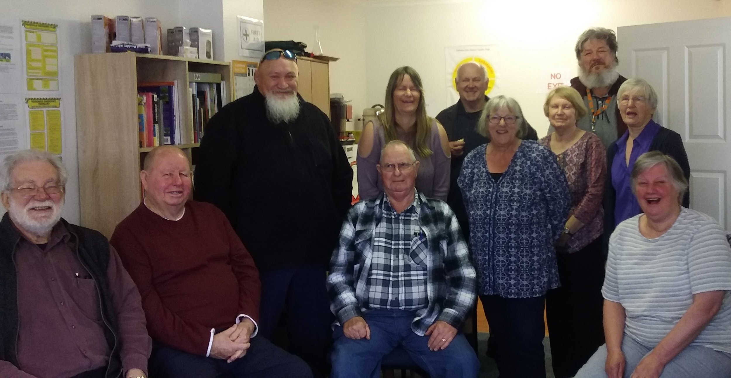 Trevor, second from left and Barbara, fourth from right, love attending their local diabetes support group