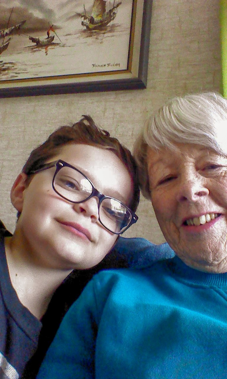Helen Booth and grandson Cameron
