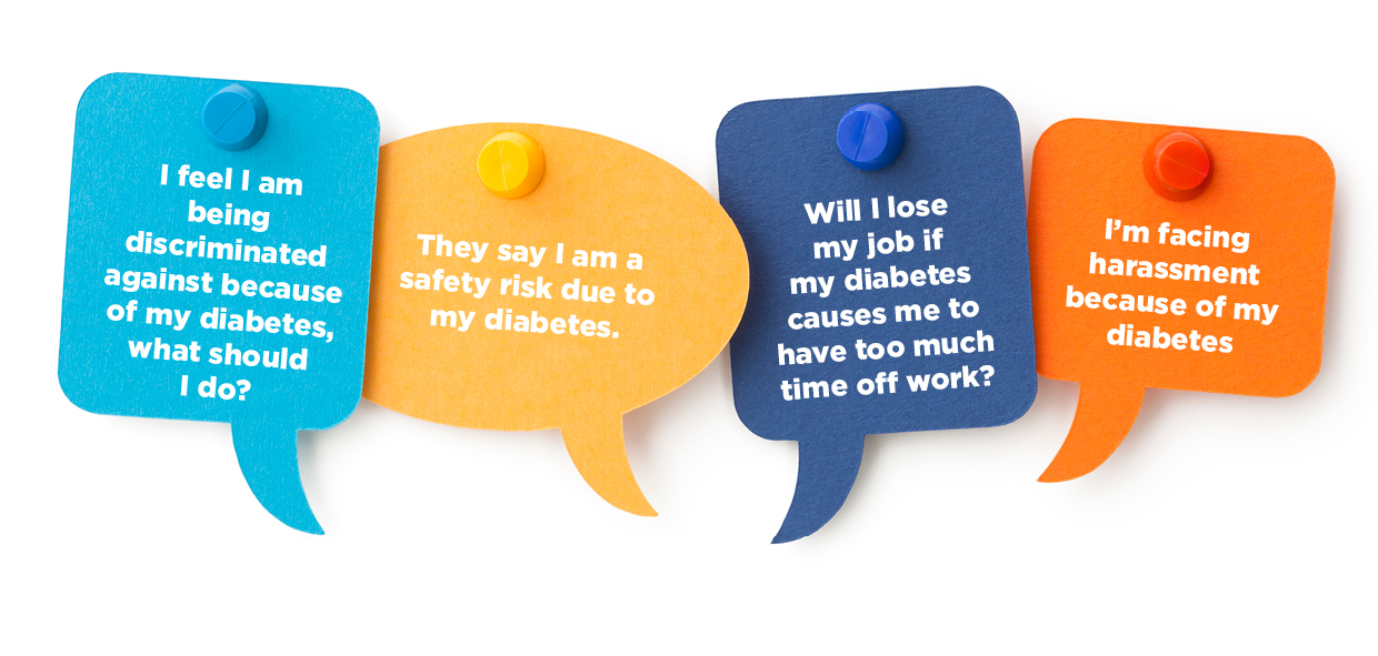 Some of the work-related questions and comments Diabetes NZ has received from it's members