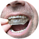 - A specially designed dental appliance or device can help to hold the jaw and tongue in a particular position to help maintain an open airway. These need to be fitted by a specialist dentist or orthodontist and are most effective in cases of mild OSA.