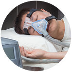 - Continuous positive airway pressure (CPAP) is the most common treatment for OSA. It involves the use of a pump that delivers low-pressure air into the airways via a mask fitted to the nose. It is worn during sleep and delivers enough pressure to keep the airway open.