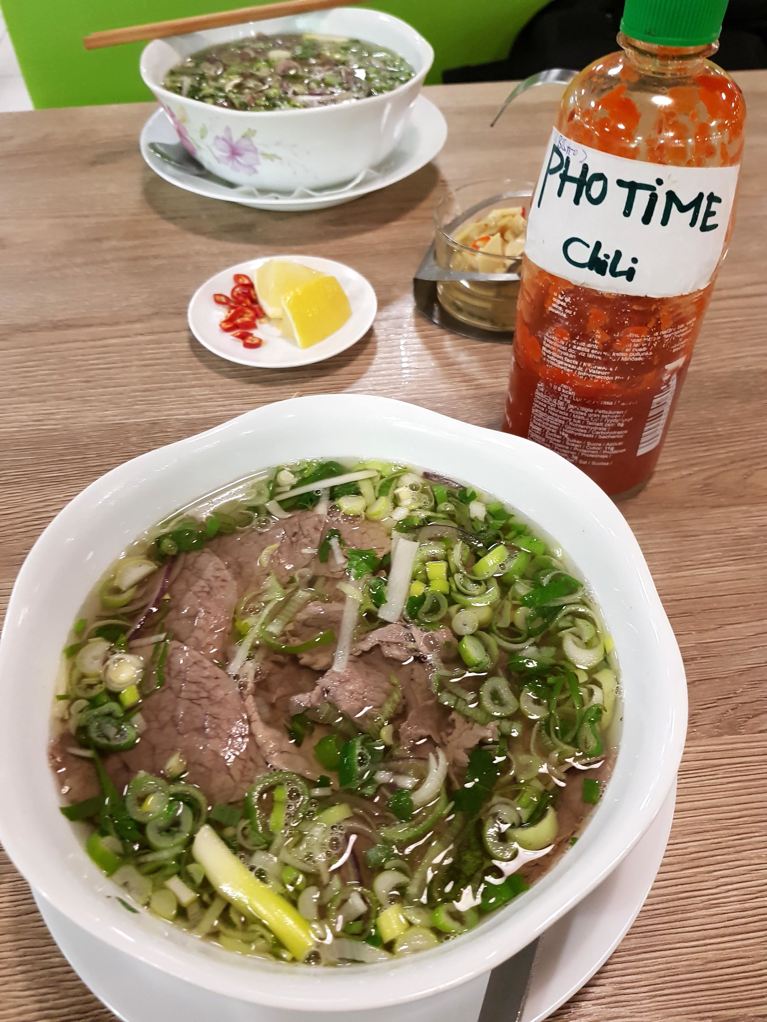 bowl of pho at Pho Time in Pilsen