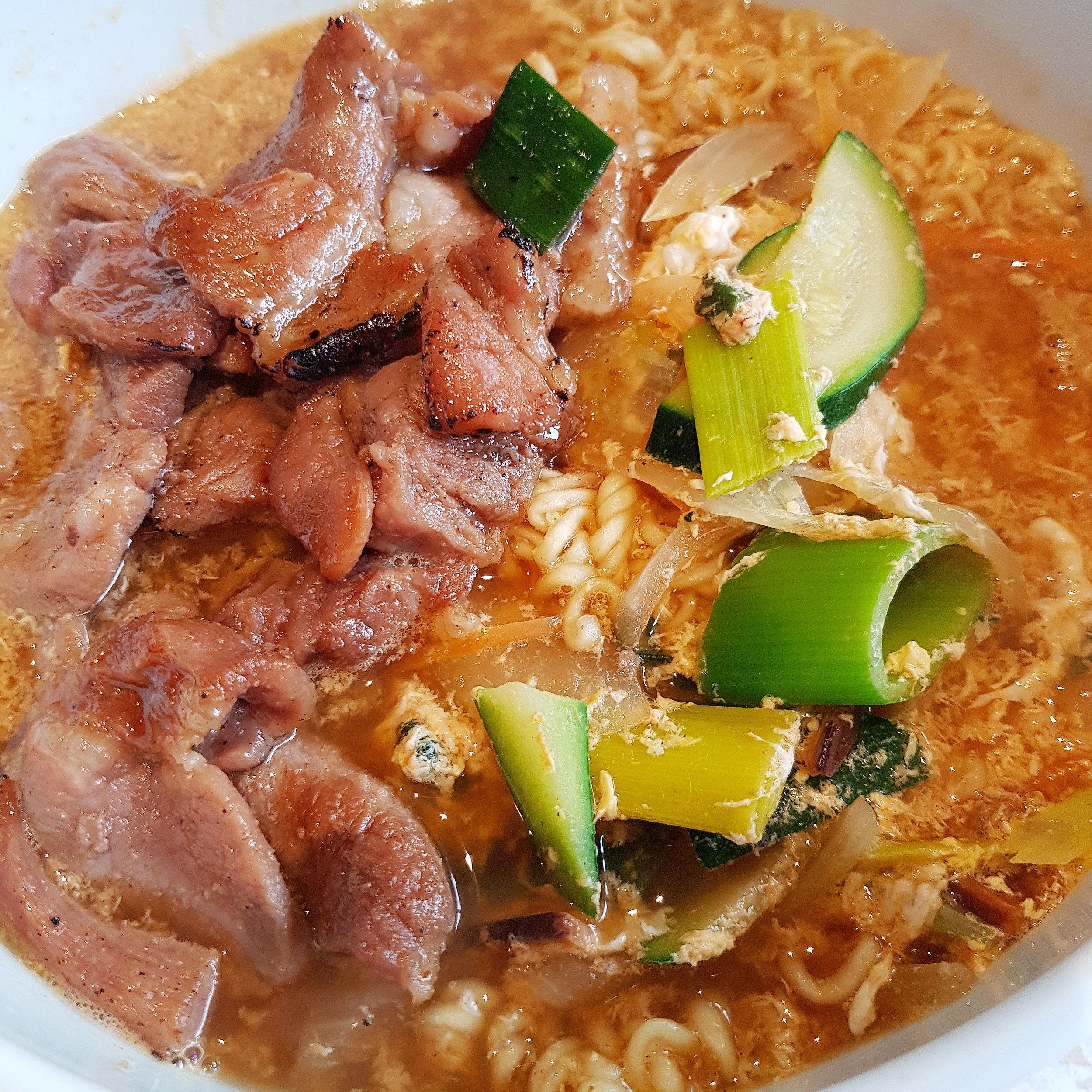 BAB Korean Restaurant Pork Ramyun Noodle Soup Grafenwoehr Germany