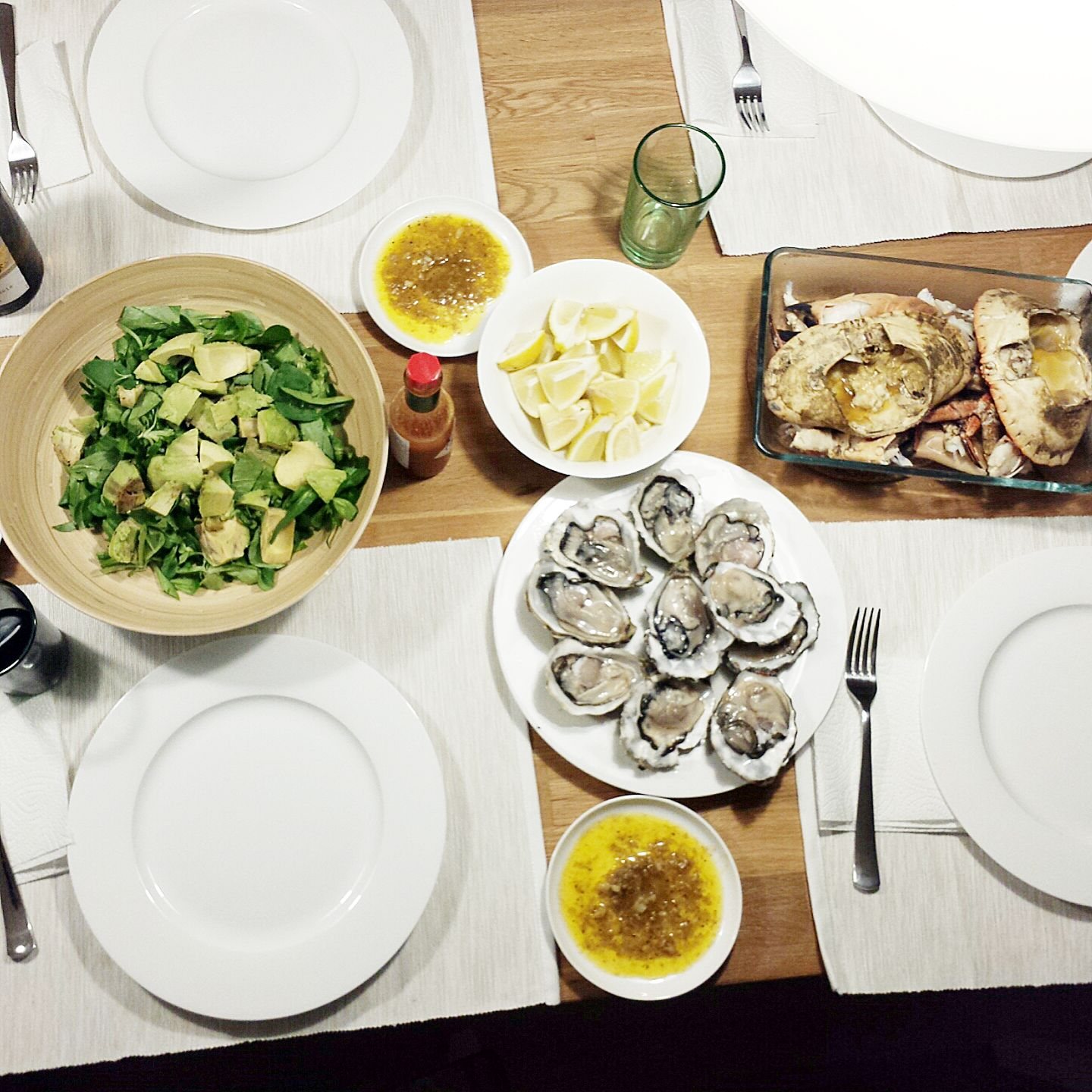 Hamburg Germany Oysters Crab Seafood Dinner Homemade Market