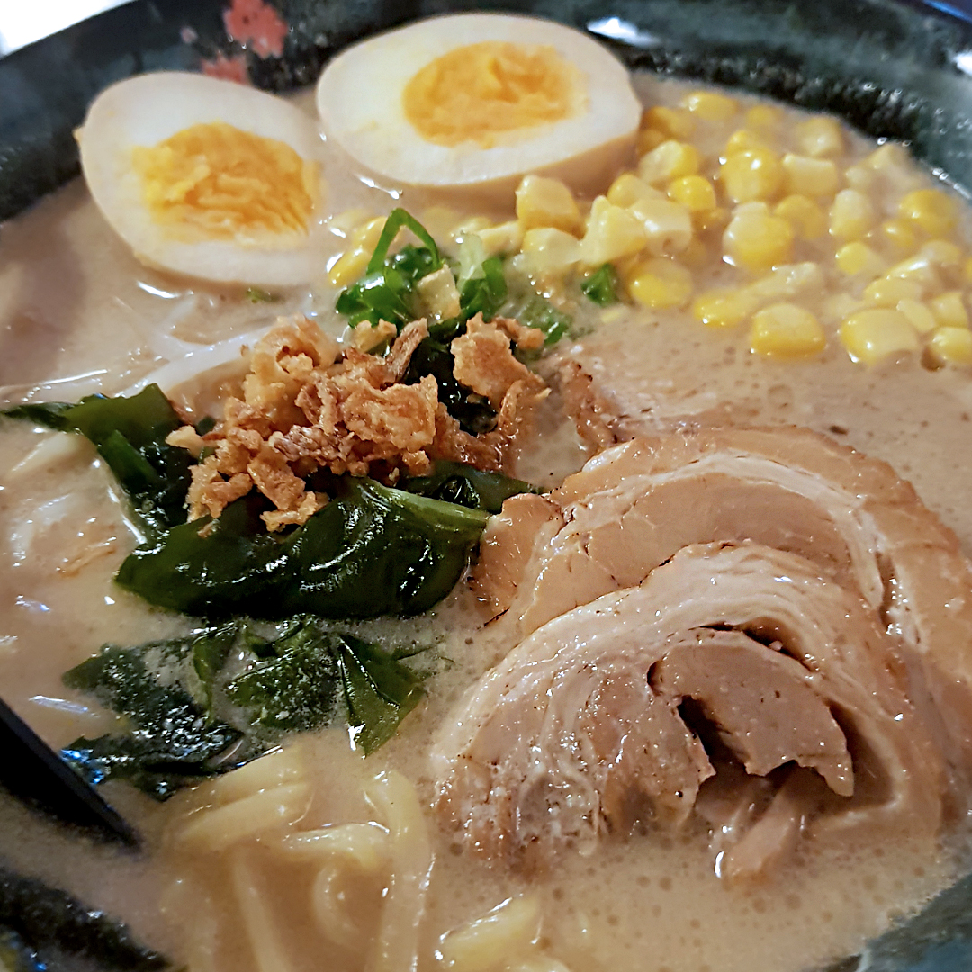 The Asian Craving Sapporo Ramen Sora Amsterdam Netherlands Tonkotsu Shoyu Ramen with Cha Siu and Fried Garlic