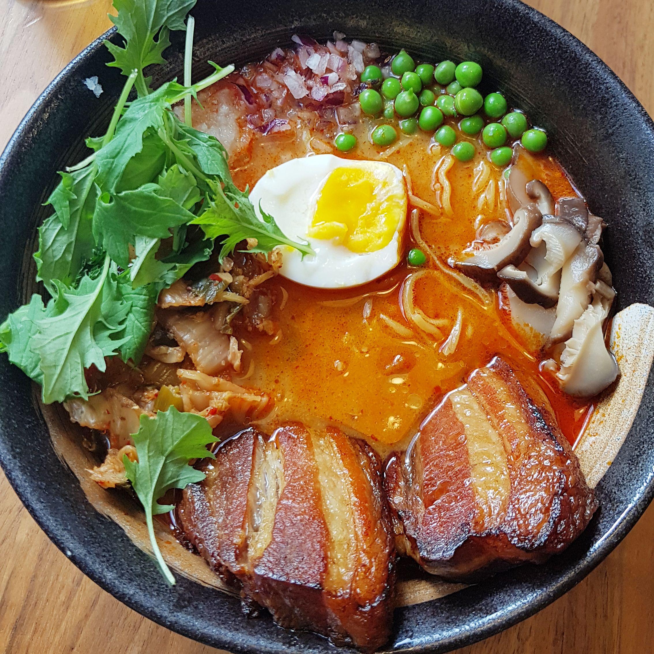 Umamido Ramen Restaurant Flagey Brussels Belgium Asian Japanese Noodle Soup