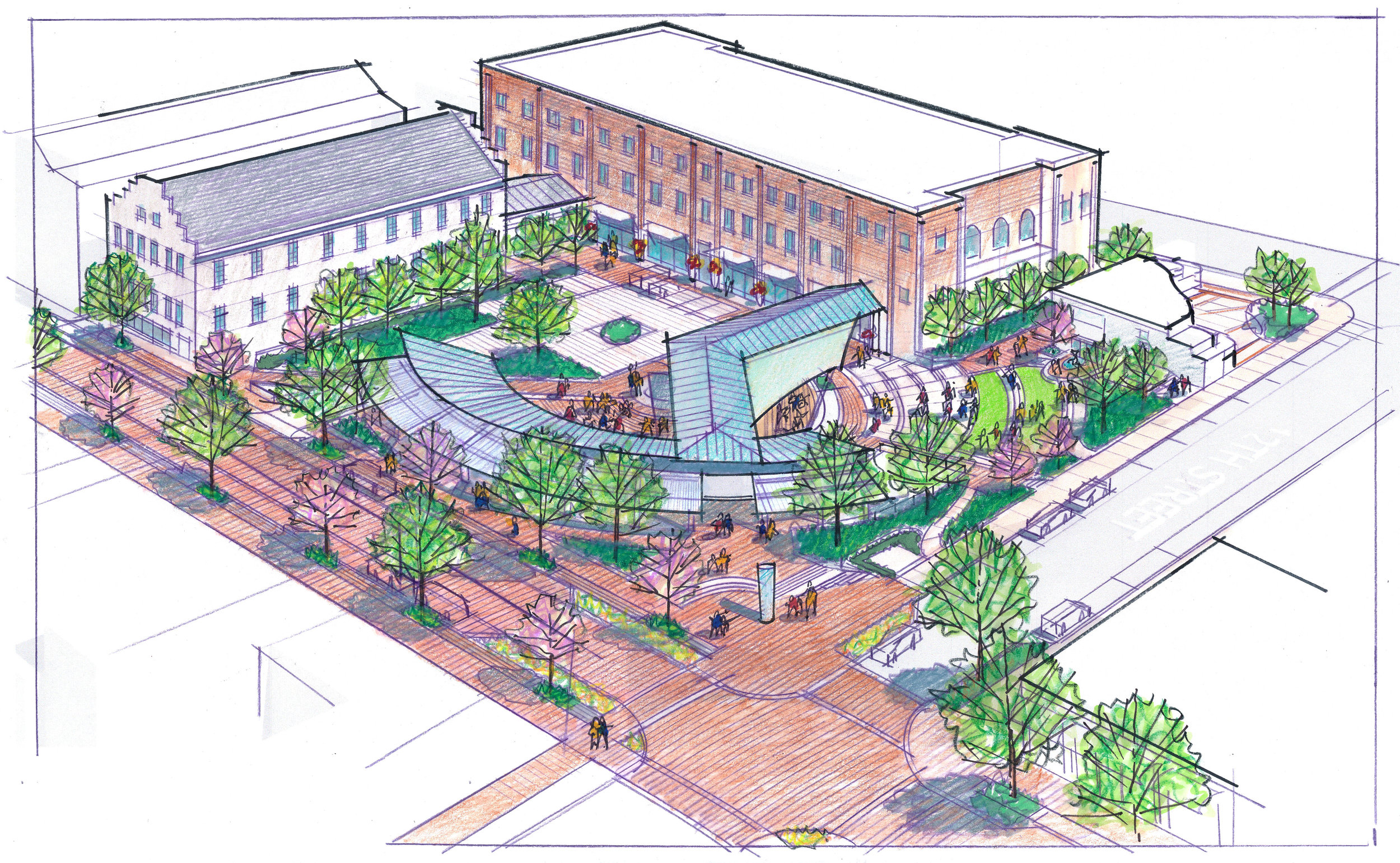 Lynchburg Downtown 2040 Plan - Amphitheater - Community Planning by Hill Studio