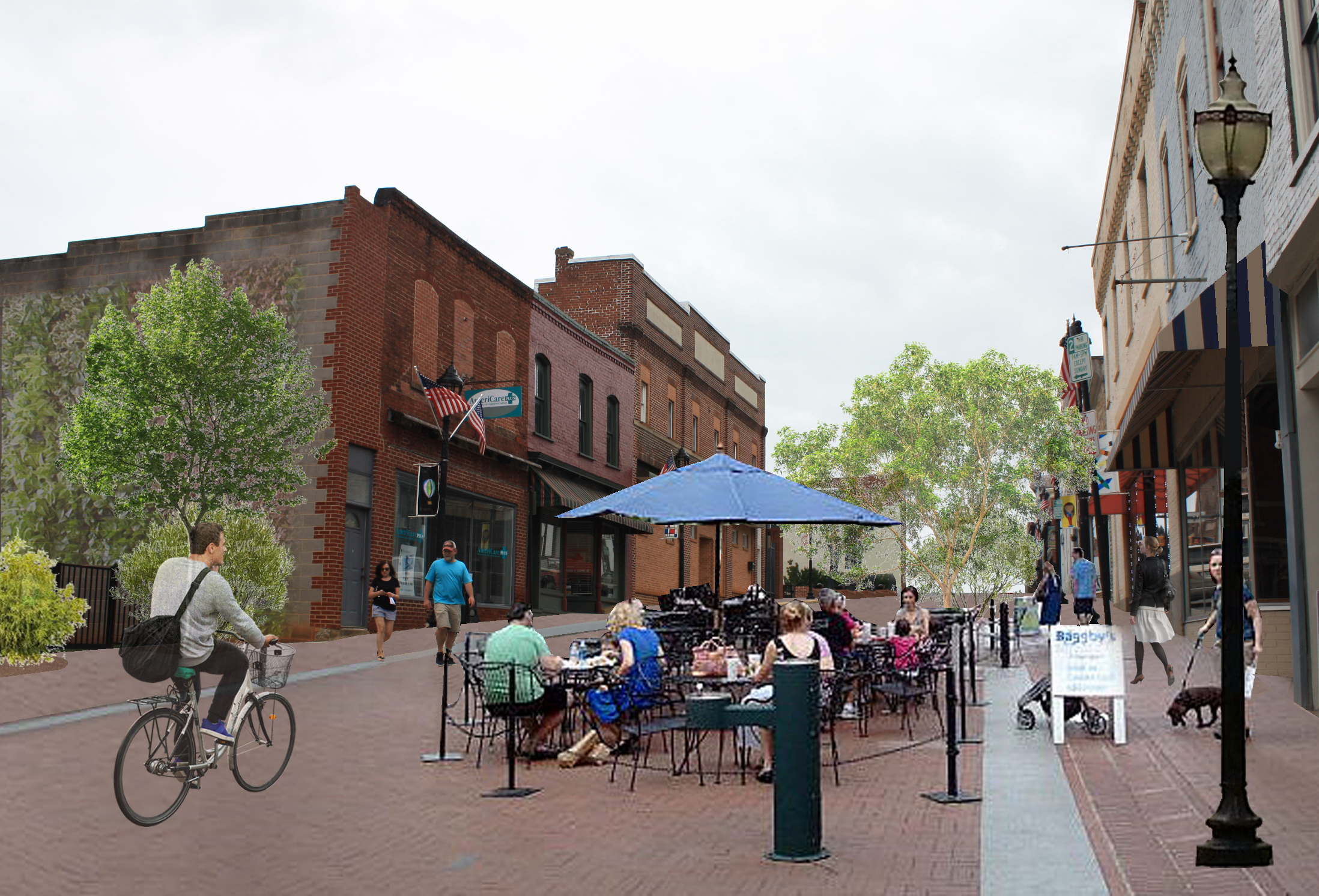 Bedford Downtown - Streetscape Revitalization design by Hill Studio