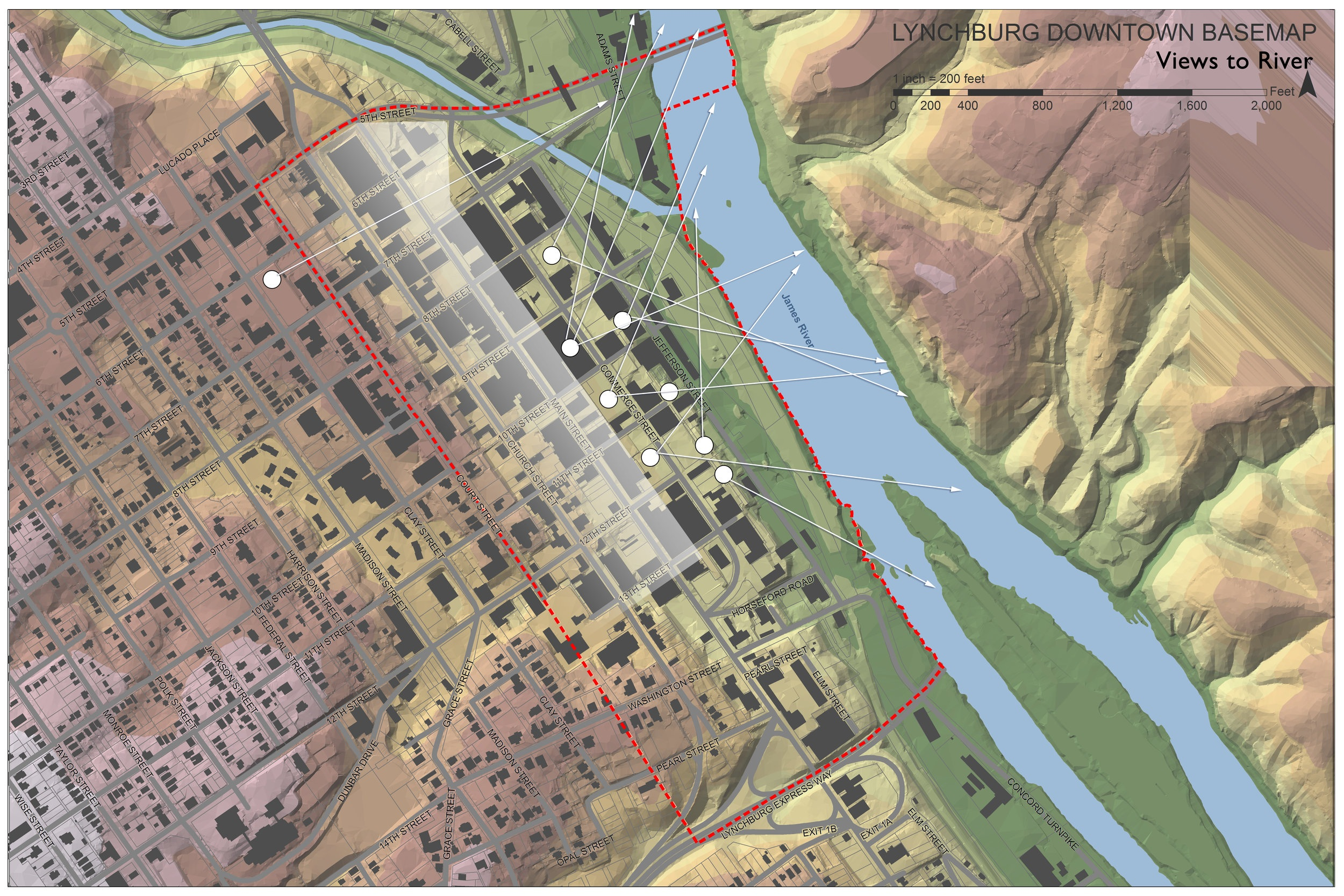 Lynchburg Downtown Plan - Urban Planning by Hill Studio