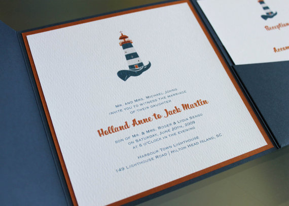 Harbour Island Lighthouse Invitation by Harmony Designs | Palmetto State Weddings