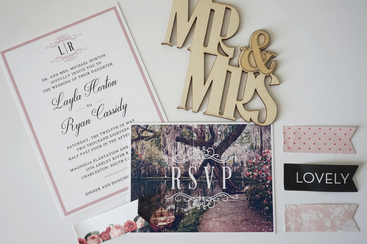 Southern Gardens Invitation | South Carolina Wedding Invitations