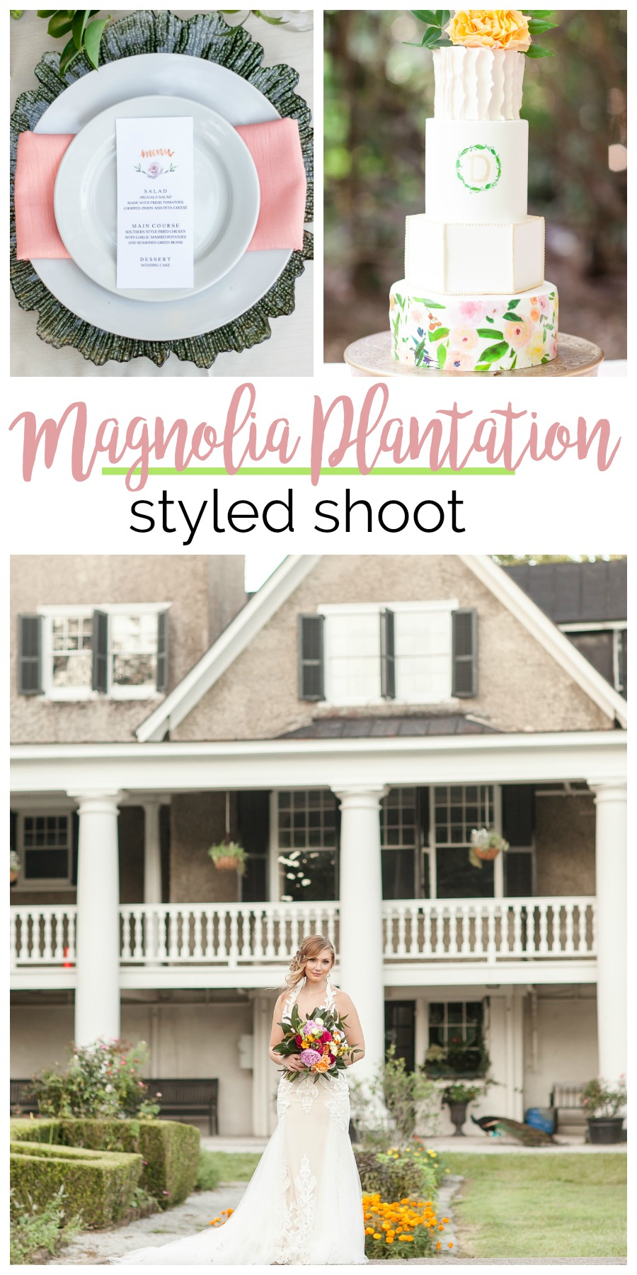 Wedding Inspiration: Magnolia Plantation Styled Shoot, Charleston, South Carolina | Palmetto State Weddings